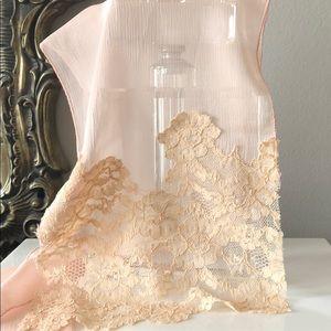 Accessories - New powder pink silk scarf